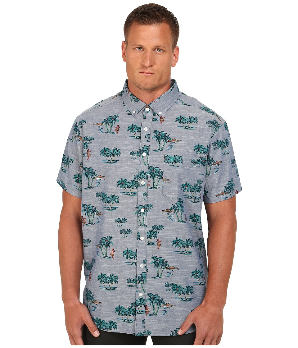 Original Penguin - Big Tall Tropical Print Chambray (Dress Blues) Men