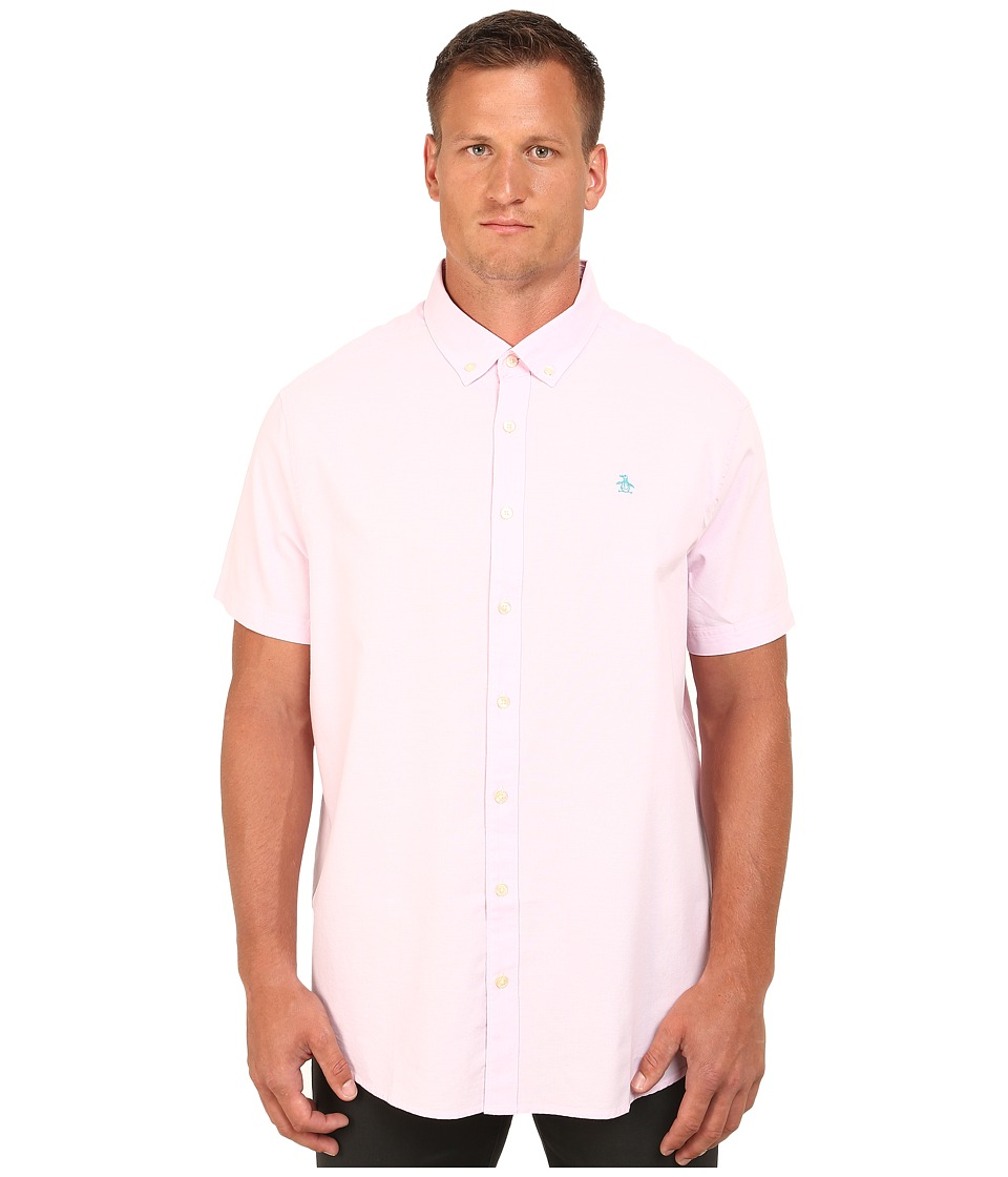 Original Penguin - Big Tall Short Sleeve Oxford (Pink Lady) Men's Short Sleeve Button Up