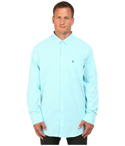 Original Penguin - Big Tall Core Gingham (Scuba Blue) Men
