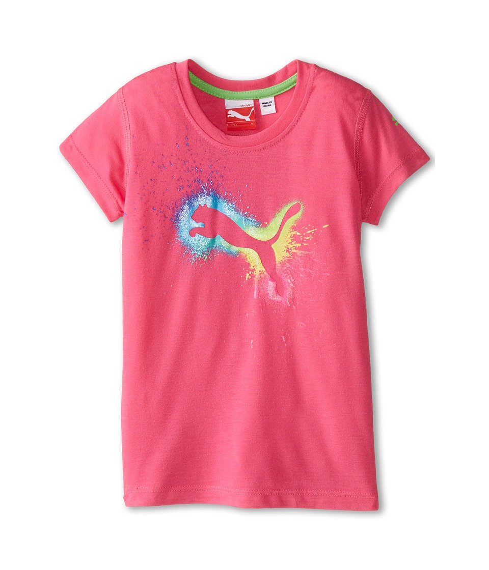 Puma Kids - Rainbow Cat Spalsh Tee (Little Kids) (Pink Glo) Girl's T Shirt