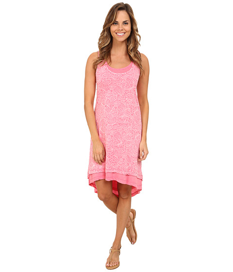 Mod-o-doc - Burnout Jersey Keyhole Back Tank Dress w/ High-Low Hem (Gumdrop) Women's Dress