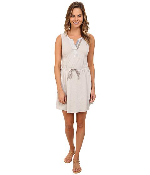 Mod-o-doc - Slub Jersey Split Henley Tank Dress (Cloud) Women