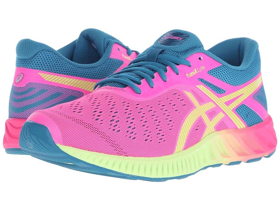 ASICS - FuzeX Lyte (Hot Pink/Sharp Green/Ocean Depths) Women's Running Shoes