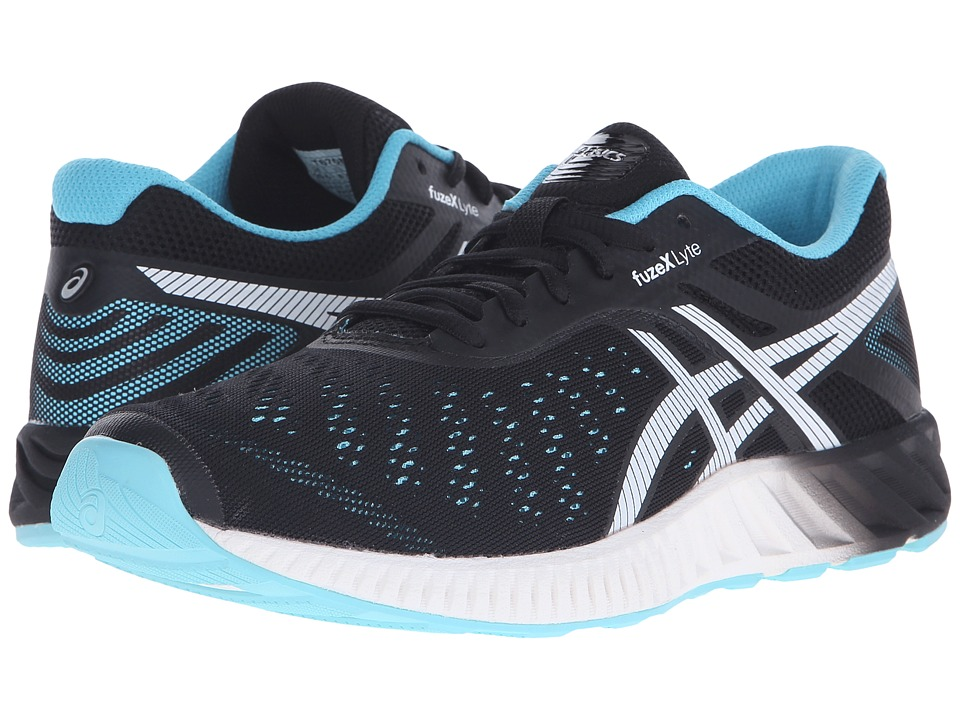 ASICS - FuzeX Lyte (Onyx/White/Turquoise) Women's Running Shoes