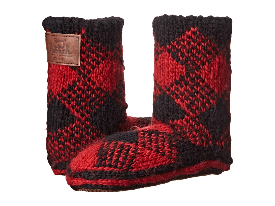 Woolrich - Chalet Ankle Sock (Red Plaid) Women's Slippers
