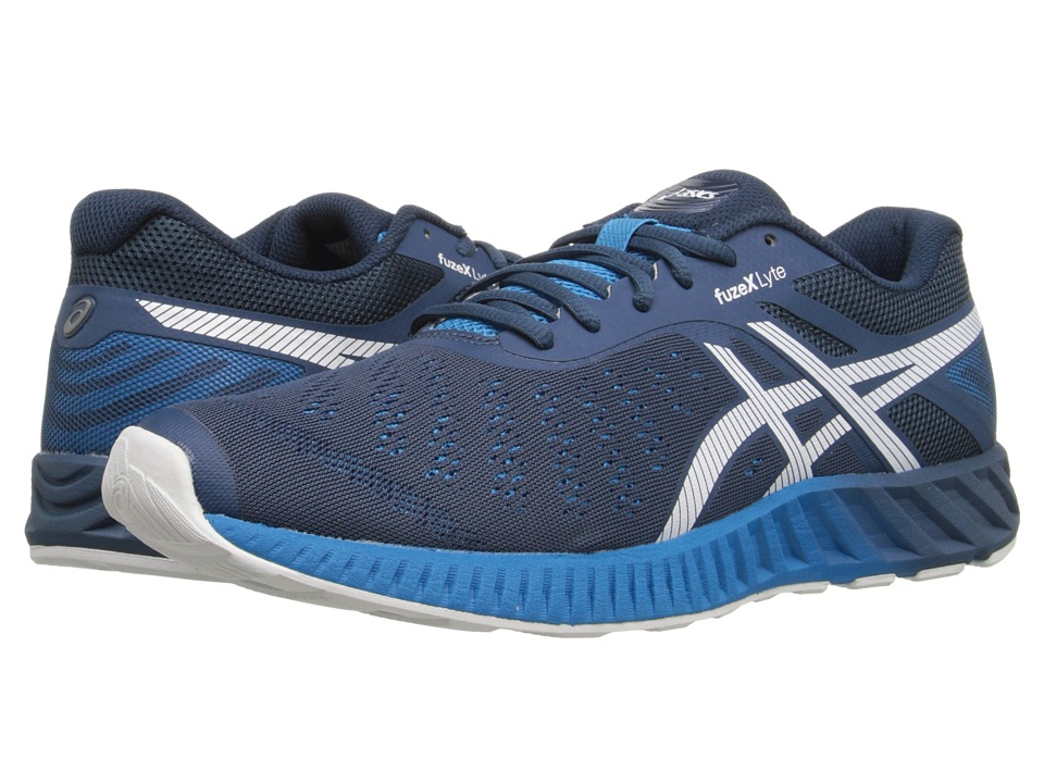 ASICS - FuzeX Lyte (Ink/White/Methyl Blue) Men's Running Shoes