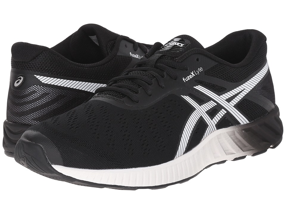 ASICS - FuzeX Lyte (Black/White/Onyx) Men's Running Shoes