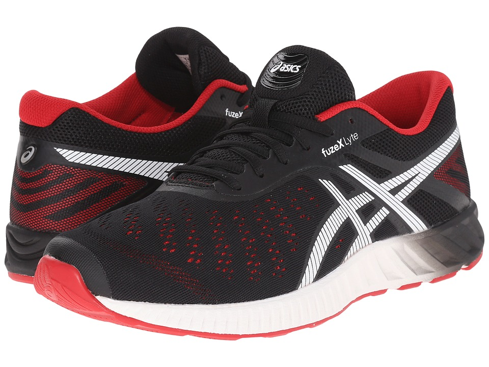 ASICS - FuzeXtm Lyte (Black/Racing Red/White) Men's Running Shoes
