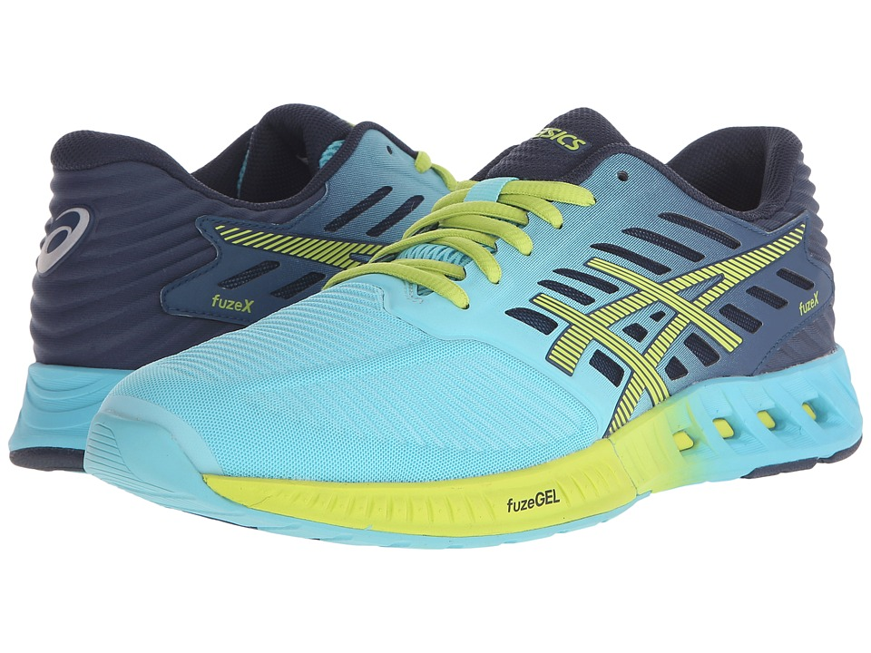 ASICS - FuzeX (Turquoise/Sharp Green/Ink) Women's Running Shoes