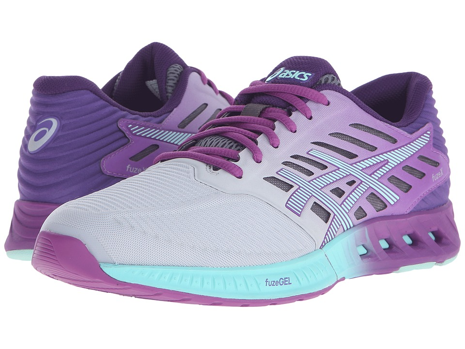 ASICS - FuzeX (Silver/Mint/Orchid) Women's Running Shoes