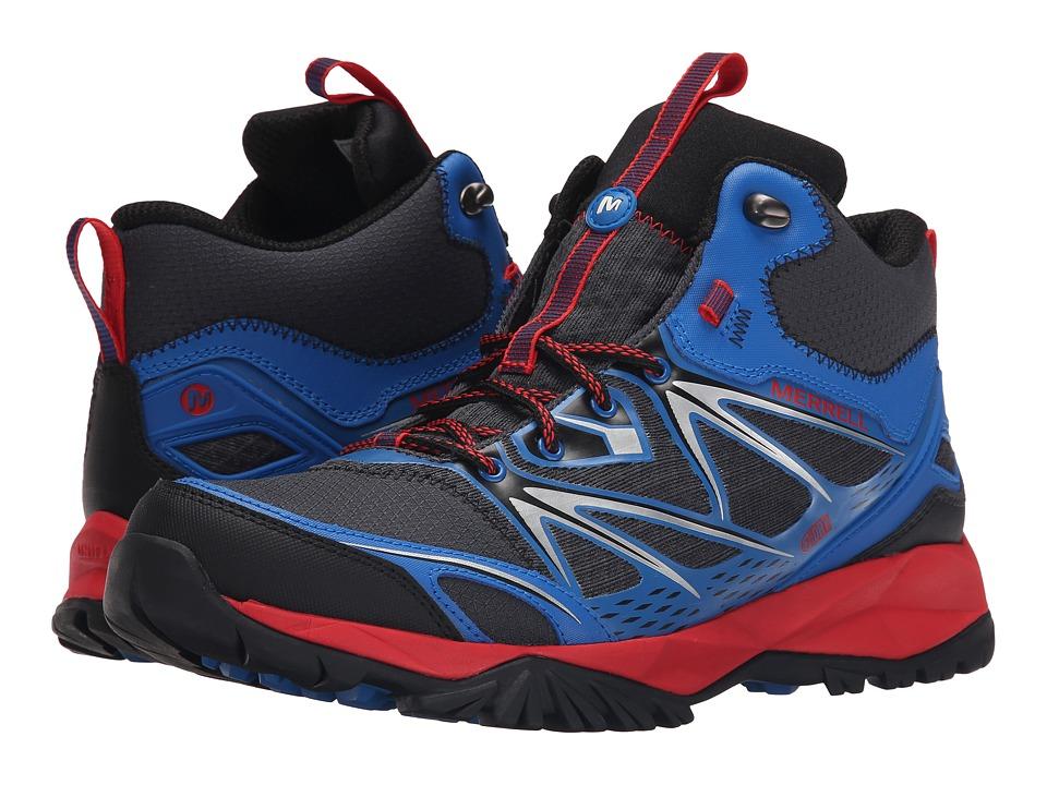 Merrell - Capra Bolt Mid Waterproof (Blue) Men's Shoes