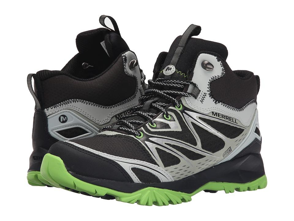 Merrell - Capra Bolt Mid Waterproof (Black/Silver) Men's Shoes