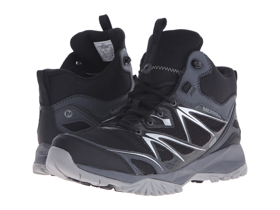 Merrell Capra Bolt Mid Waterproof (Black) Men