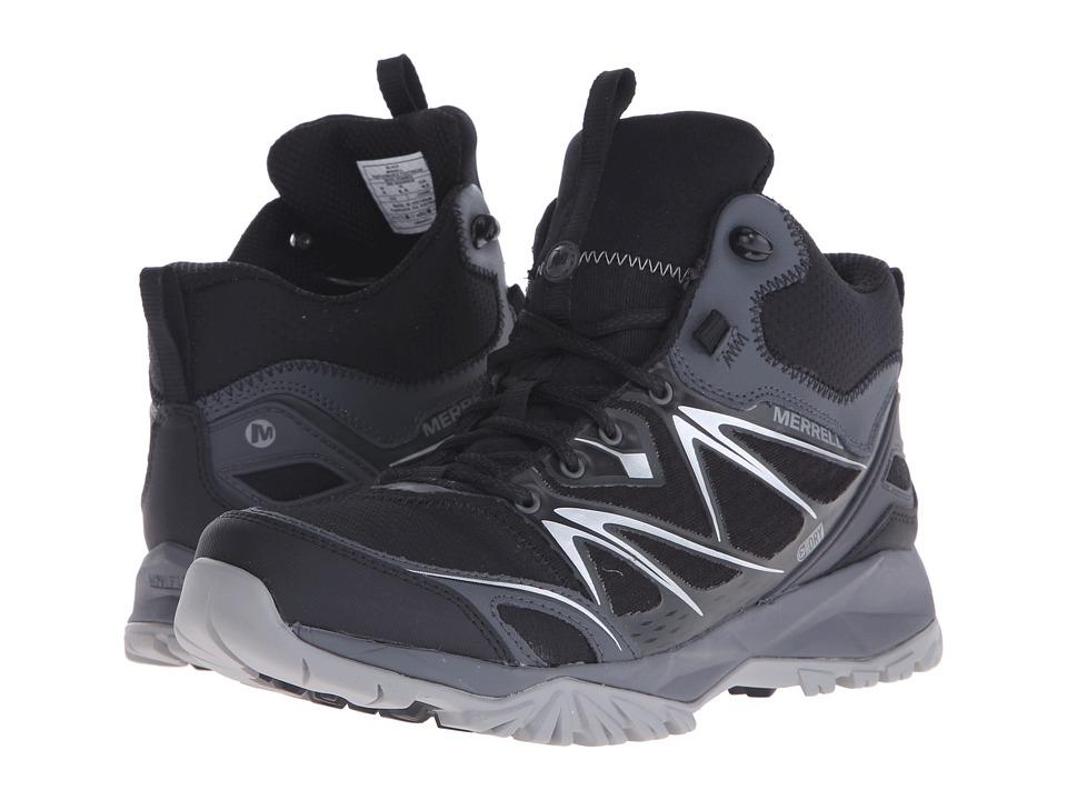 Merrell - Capra Bolt Mid Waterproof (Black) Men's Shoes