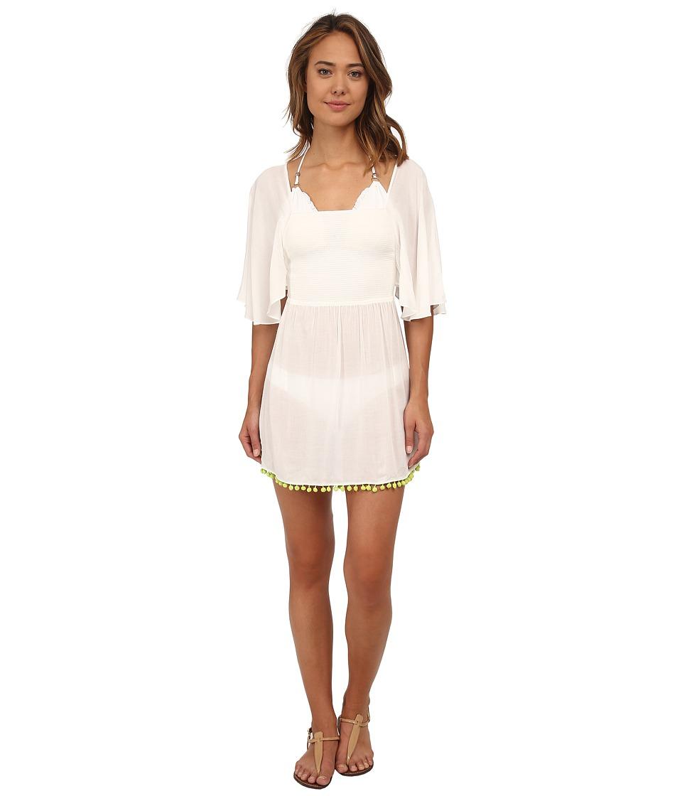 Vix - Sofia by Vix Solid AK Caftan (White) Women's Dress