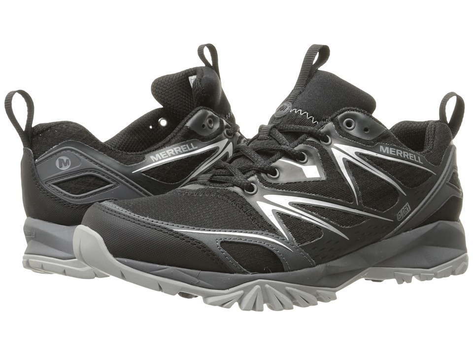 Merrell - Capra Bolt Waterproof (Black) Men's Shoes