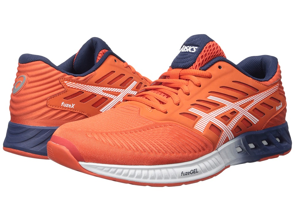 ASICS - FuzeX (Cherry Tomato/White/Estate Blue) Men's Running Shoes