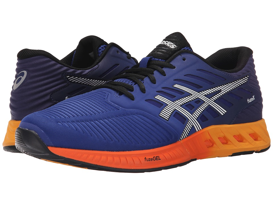ASICS - FuzeX (ASICS Blue/Indigo Blue/Hot Orange) Men's Running Shoes