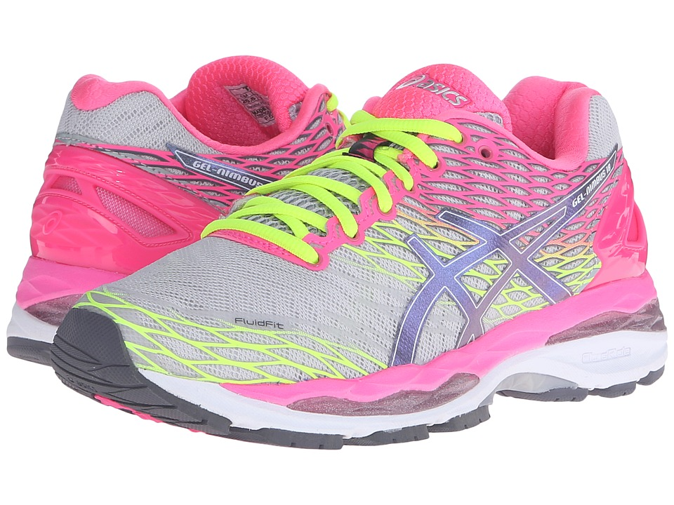ASICS - Gel-Nimbus 18 (Silver/Titanium/Hot Pink) Women's Running Shoes