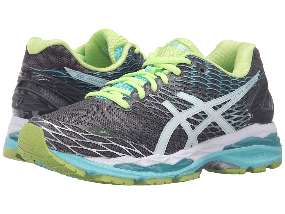 ASICS - Gel-Nimbus 18 (Titanium/White/Turquoise) Women's Running Shoes