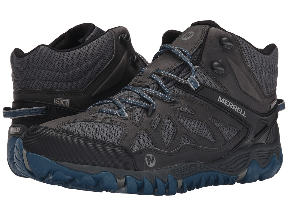 Merrell - All Out Blaze Vent Mid Waterproof (Grey/Multi) Men's Shoes
