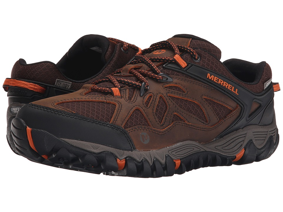 Merrell - All Out Blaze Vent Waterproof (Burnt Maple) Men's Shoes
