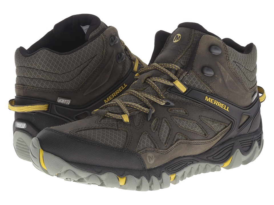 Merrell - All Out Blaze Vent Mid Waterproof (Olive) Men's Shoes