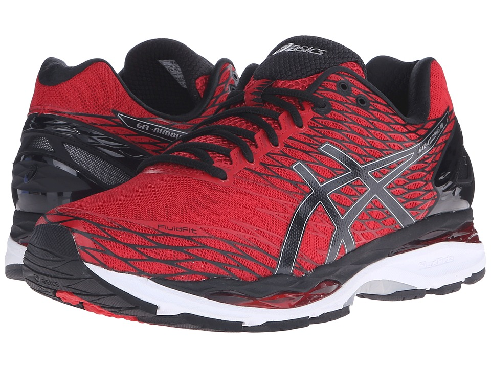 ASICS - Gel-Nimbus 18 (Racing Red/Black/Silver) Men's Running Shoes