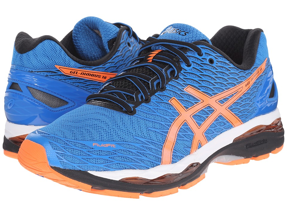 ASICS - Gel-Nimbus 18 (Electric Blue/Hot Orange/Black) Men's Running Shoes