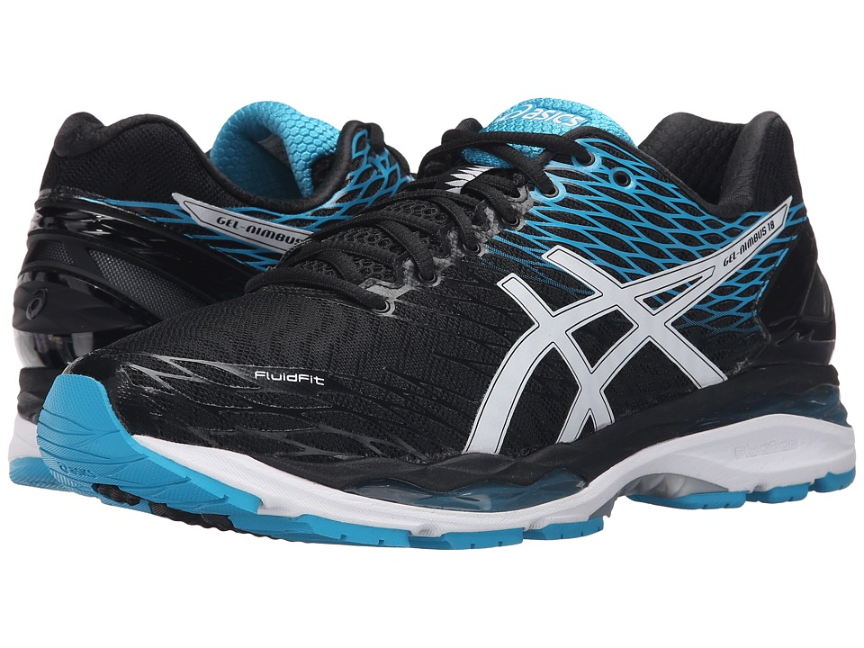 ASICS - Gel-Nimbus 18 (Black/White/Island Blue) Men's Running Shoes