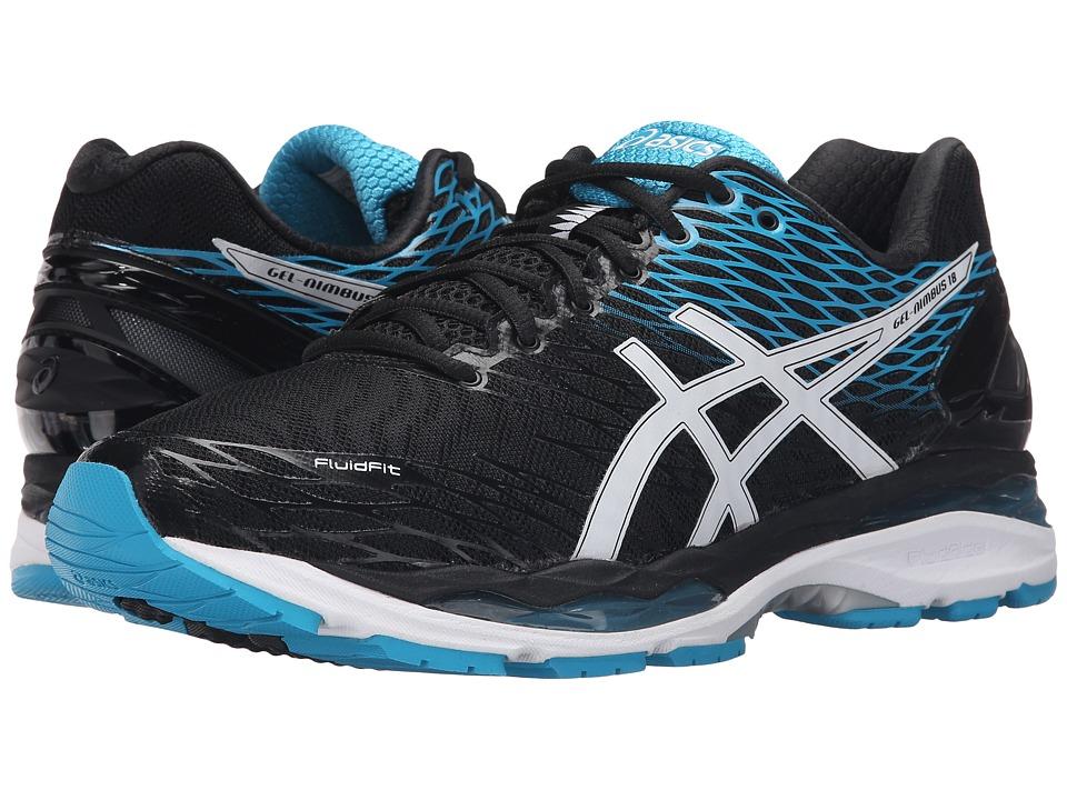 ASICS - Gel-Nimbus 18 (Black/White/Island Blue) Men's Running Shoes