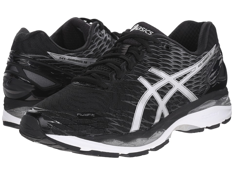 ASICS - Gel-Nimbus 18 (Black/Silver/Carbon) Men's Running Shoes