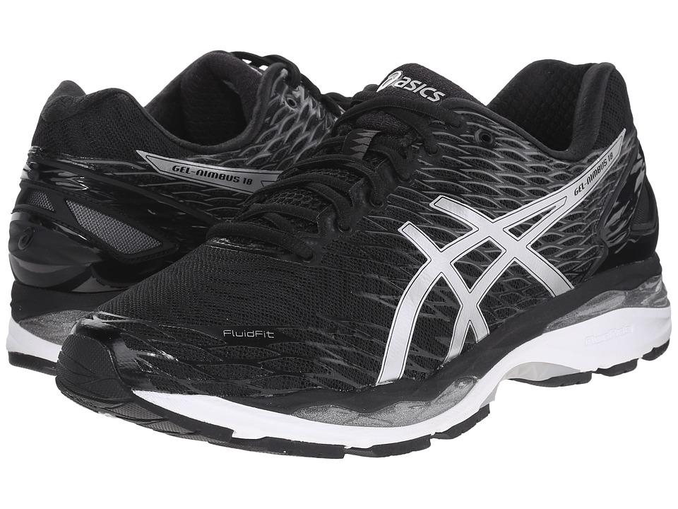 ASICS - Gel-Nimbus 18 (Black/Silver/Carbon) Men's Running Shoes