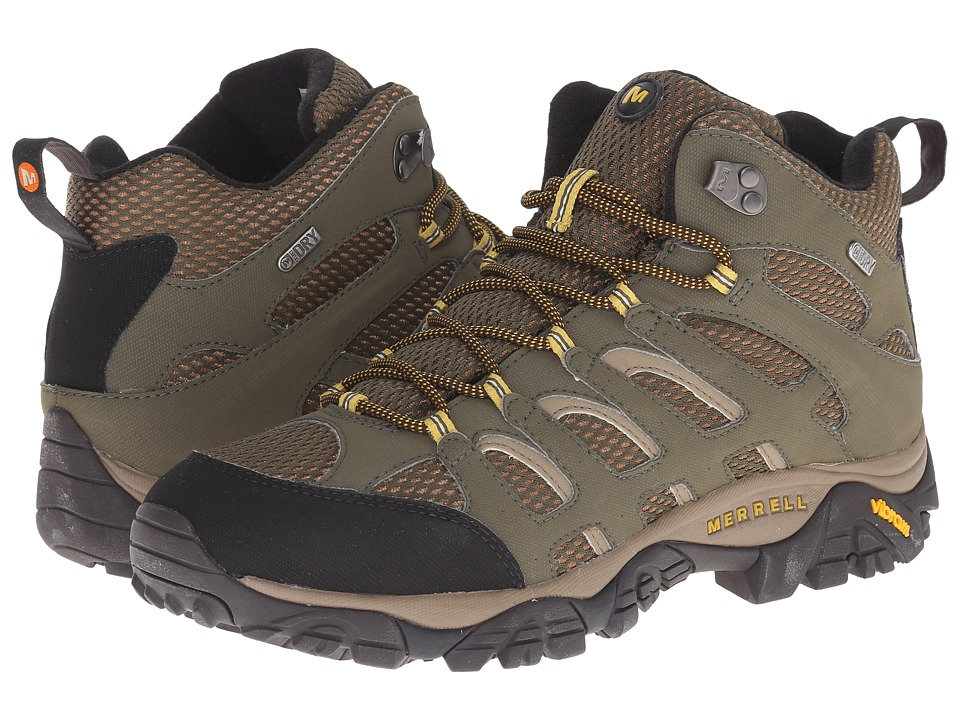 Merrell - Moab Mid Waterproof (Olive) Men's Hiking Boots