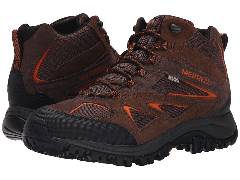 Merrell - Phoenix Bluff Mid Waterproof (Dark Brown) Men's Shoes