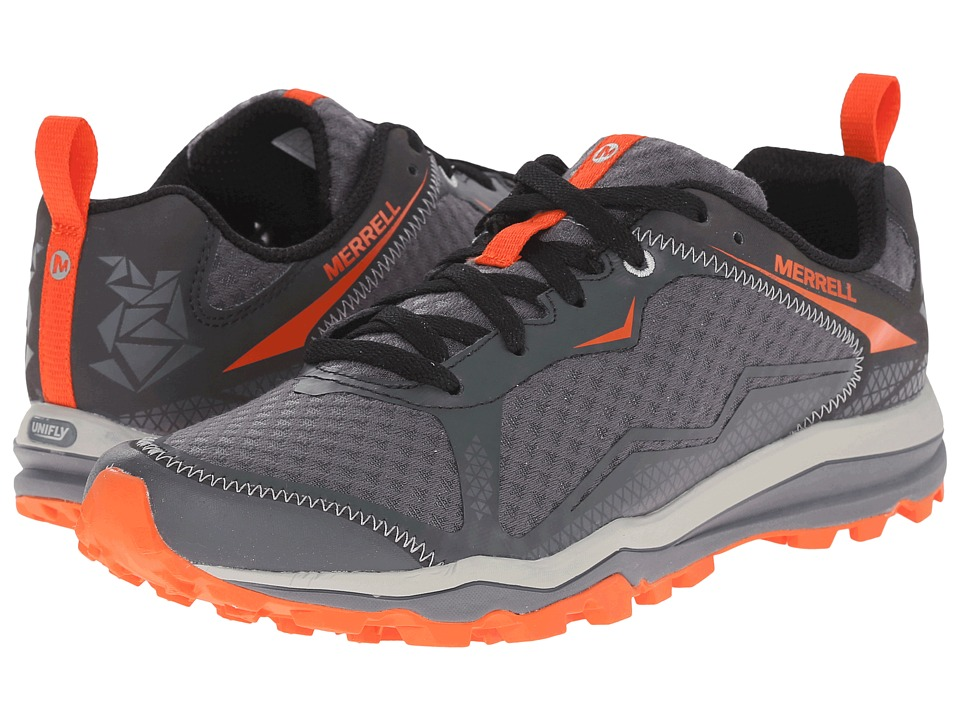 Merrell - All Out Crush (Grey/Orange) Men's Shoes