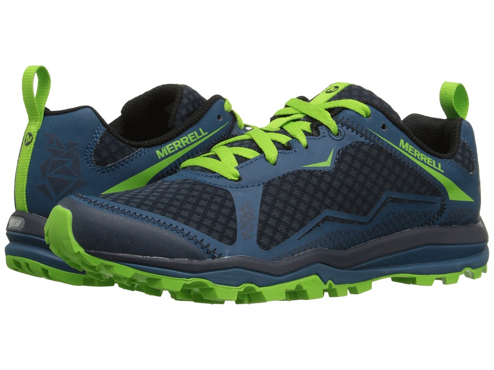 Merrell - All Out Crush Light (Bright Green) Men's Shoes