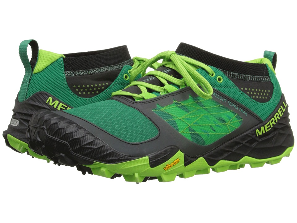 Merrell - All Out Terra Trail (Bright Green) Men's Running Shoes