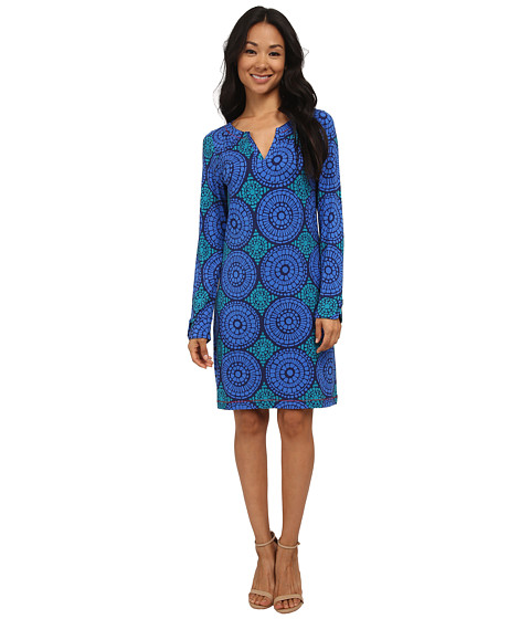 Hatley - Peplum Dress (Blue Mosaic) Women