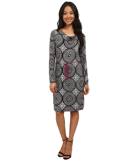 Hatley - Cowel Neck Dress (Grey/Black Mosaic) Women