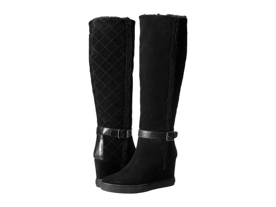 Aquatalia - Callie (Black Suede Combo) Women's Zip Boots