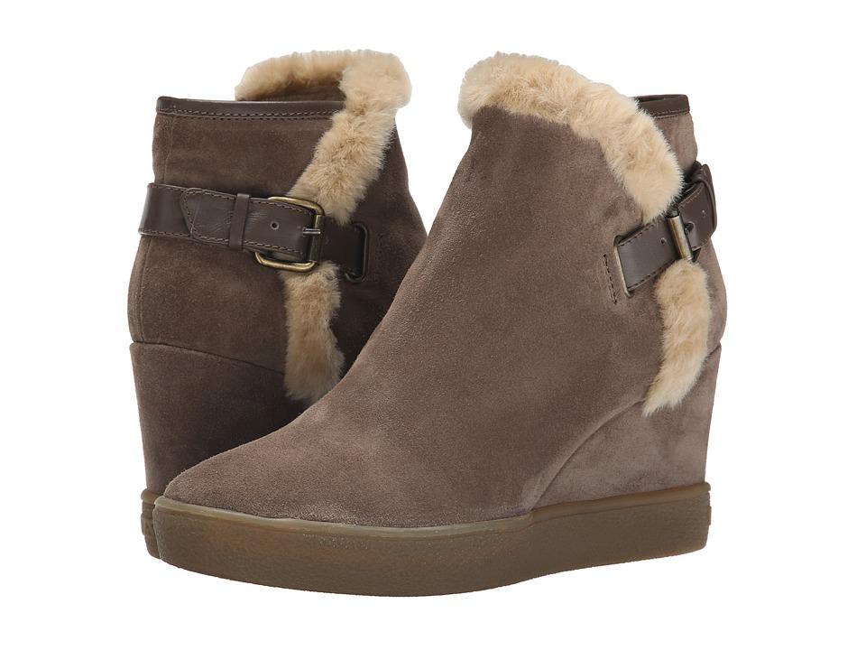 Aquatalia - Cameron (Taupe Suede) Women's Zip Boots