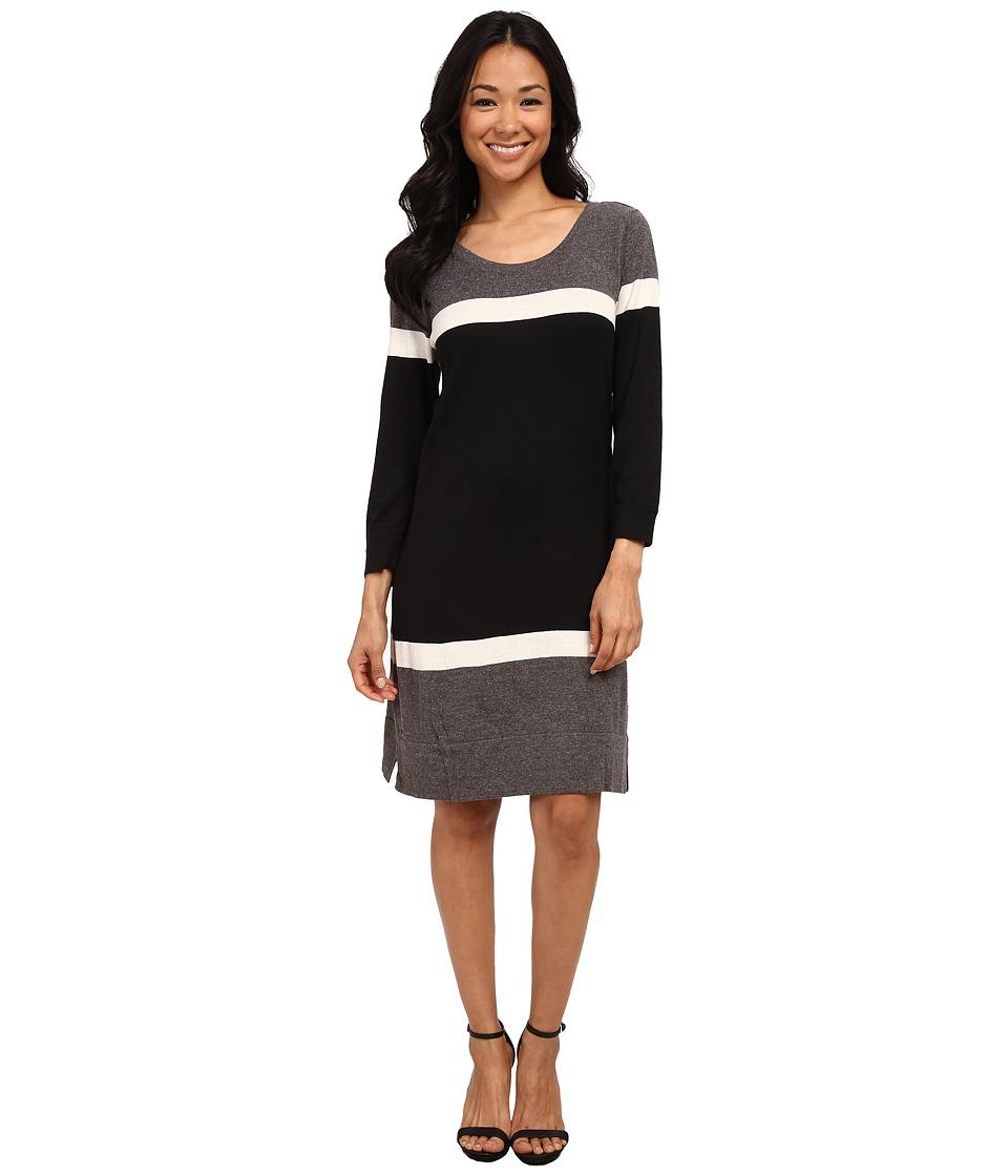 Hatley - Sweater Dress (Black/Charcoal) Women