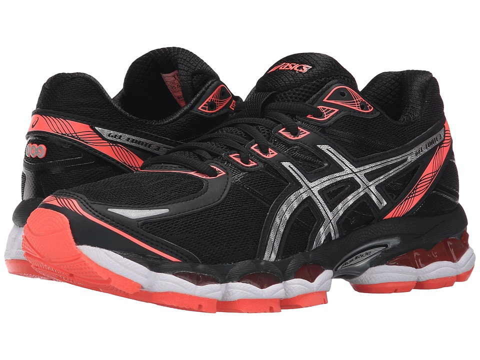 ASICS - Gel-Evate 3 (Black/Silver/Flash Coral) Women's Running Shoes