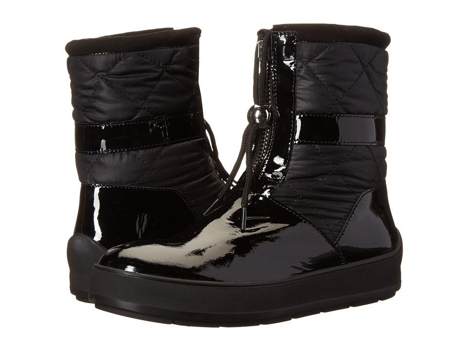 Aquatalia - Kali (Black Patent/Quilt Combo) Women's Zip Boots