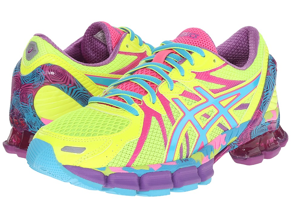 ASICS - Gel-Sendai 3 (Flash Yellow/Turquoise/Hot Pink) Women's Running Shoes