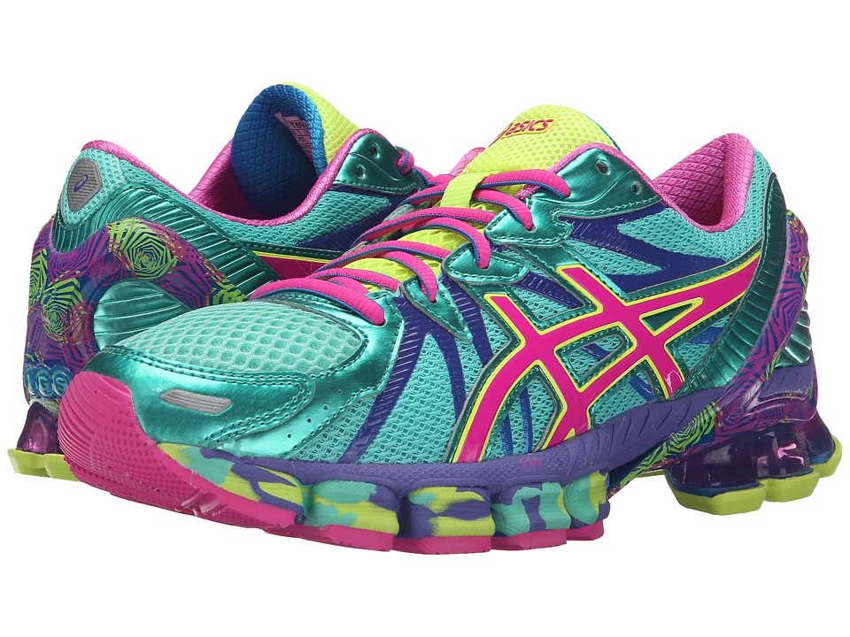 ASICS - Gel-Sendai 3 (Aqua Mint/Pink Glow/Electric Blue) Women's Running Shoes