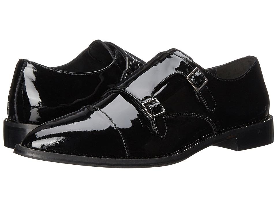 Aquatalia - Harlow (Black Patent) Women's Monkstrap Shoes