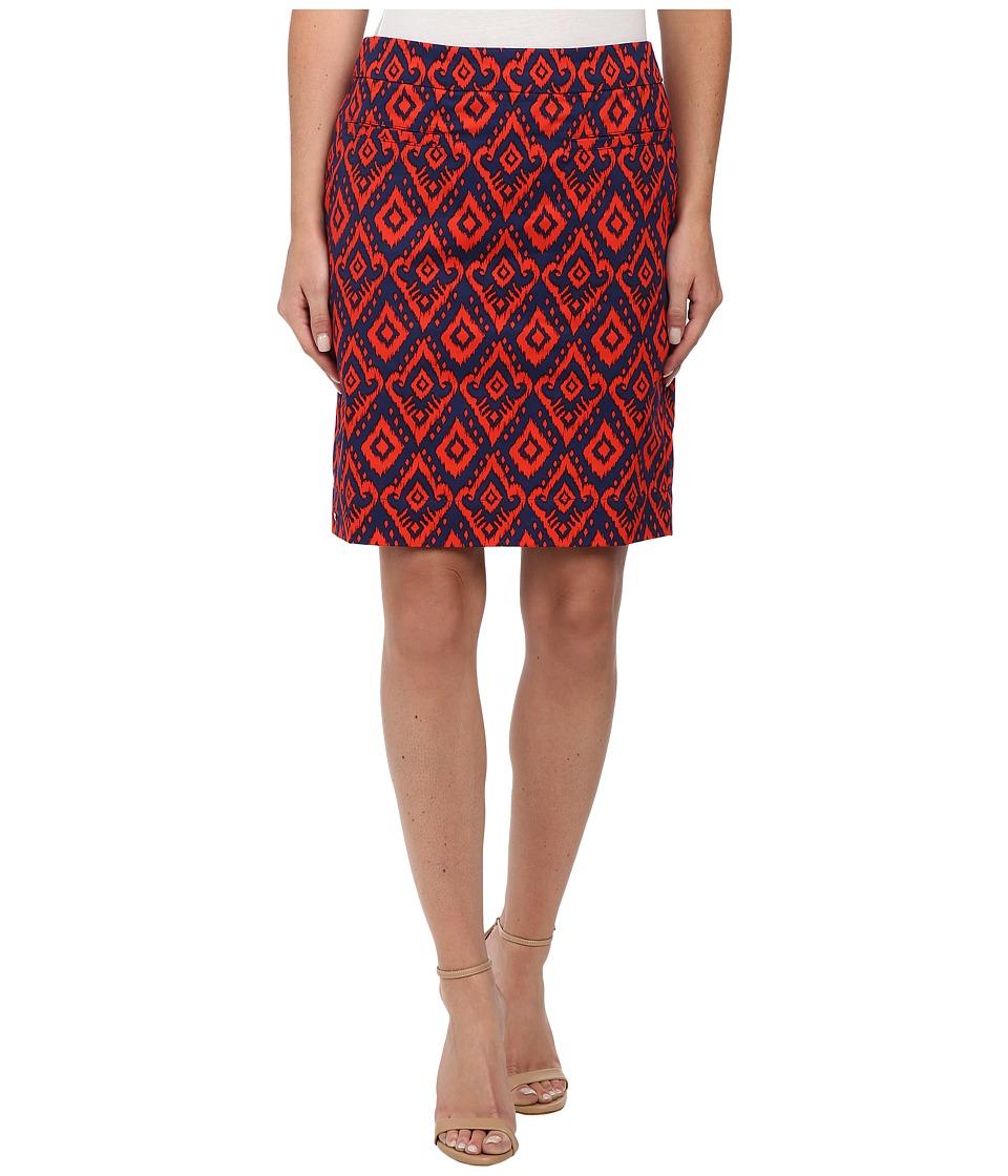 Hatley - Sateen Skirt (Orange Ikat) Women