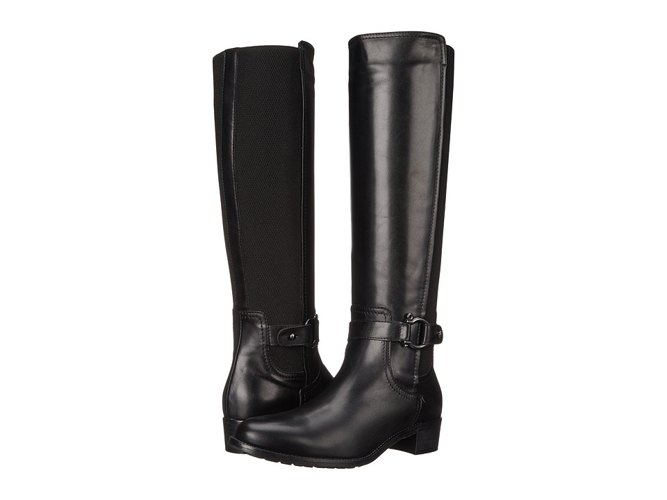Aquatalia - Odina (Black Calf/Elastic) Women's Zip Boots